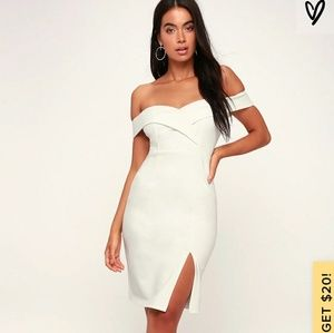 Lulu's White Off the Shoulder Dress